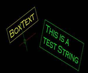 لیسپ کشیدن باکس دور متن های در اتوکد
