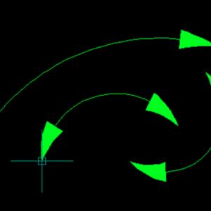 لیسپ رسم خط قوس دار همراه با فلش